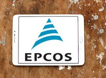 Logotipo da empresa de eletrônica de Epcos imagens de stock royalty free