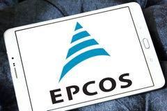 Logotipo da empresa de eletrônica de Epcos foto de stock