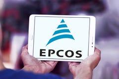 Logotipo da empresa de eletrônica de Epcos fotografia de stock royalty free