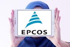 Logotipo da empresa de eletrônica de Epcos imagens de stock