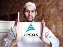 Logotipo da empresa de eletrônica de Epcos fotos de stock