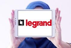Logotipo da empresa de eletrônica de Legrand imagem de stock