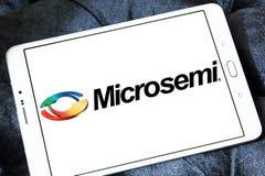 Logotipo da empresa de eletrônica de Microsemi foto de stock