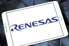 Logotipo da empresa de eletrônica de Renesas fotografia de stock