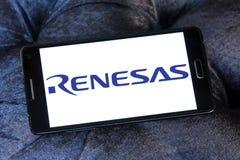 Logotipo da empresa de eletrônica de Renesas imagens de stock