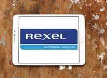 Logotipo da empresa de eletrônica de Rexel fotografia de stock