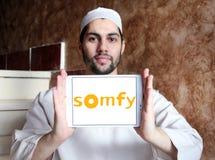 Logotipo da empresa de eletrônica de Somfy fotos de stock royalty free