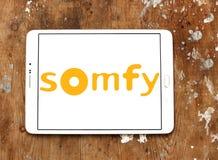 Logotipo da empresa de eletrônica de Somfy imagens de stock royalty free