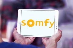 Logotipo da empresa de eletrônica de Somfy fotos de stock