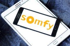 Logotipo da empresa de eletrônica de Somfy imagens de stock