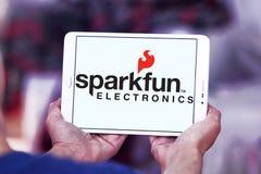 Logotipo da empresa de eletrônica de SparkFun fotografia de stock royalty free