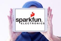 Logotipo da empresa de eletrônica de SparkFun fotos de stock royalty free
