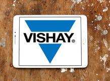 Logotipo da empresa de eletrônica de Vishay foto de stock royalty free
