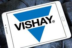 Logotipo da empresa de eletrônica de Vishay imagem de stock