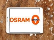 Logotipo da empresa de iluminação de Osram Foto de Stock