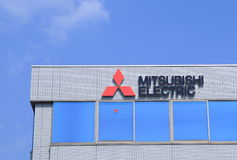 Logotipo da empresa de Mitsubishi Electric Foto de Stock