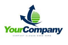 Logotipo da empresa de negócio ilustração stock