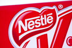 Logotipo da empresa de Nestle Foto de Stock Royalty Free
