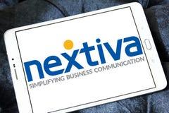 Logotipo da empresa de Nextiva Foto de Stock