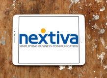 Logotipo da empresa de Nextiva Fotografia de Stock Royalty Free