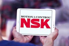 Logotipo da empresa de NSK foto de stock