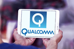 Logotipo da empresa de Qualcomm Fotografia de Stock Royalty Free