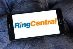 Logotipo da empresa de RingCentral imagem de stock