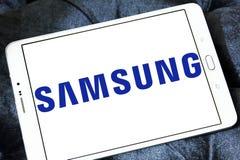 Logotipo da empresa de Samsung foto de stock royalty free