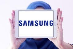 Logotipo da empresa de Samsung fotografia de stock