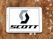 Logotipo da empresa de Scott Sports Fotos de Stock