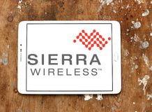 Logotipo da empresa de Sierra Wireless foto de stock royalty free