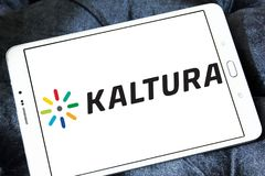 Logotipo da empresa de software de Kaltura Fotos de Stock Royalty Free