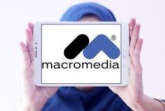 Logotipo da empresa de software de Macromedia Imagem de Stock