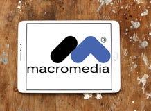 Logotipo da empresa de software de Macromedia Fotografia de Stock