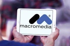 Logotipo da empresa de software de Macromedia Imagem de Stock Royalty Free