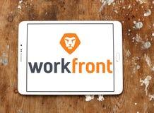 Logotipo da empresa de software de Workfront Fotos de Stock
