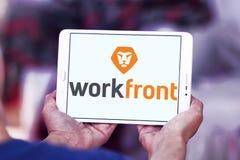 Logotipo da empresa de software de Workfront Fotografia de Stock