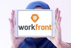 Logotipo da empresa de software de Workfront Foto de Stock Royalty Free