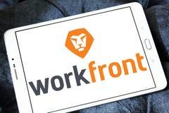 Logotipo da empresa de software de Workfront Fotografia de Stock Royalty Free