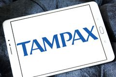 Logotipo da empresa de Tampax Foto de Stock Royalty Free