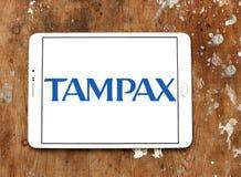 Logotipo da empresa de Tampax Foto de Stock