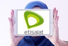 Logotipo da empresa de telecomunicações de Etisalat Fotos de Stock Royalty Free