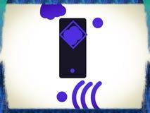 Logotipo da empresa de telefone celular Imagens de Stock
