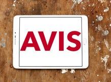 Logotipo da empresa do aluguer de carros de AVIS Imagens de Stock Royalty Free