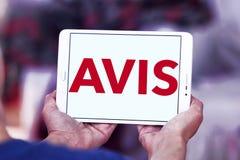 Logotipo da empresa do aluguer de carros de AVIS Fotografia de Stock