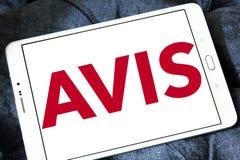 Logotipo da empresa do aluguer de carros de AVIS Imagem de Stock
