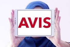 Logotipo da empresa do aluguer de carros de AVIS Foto de Stock