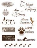 Logotipo da empresa do cão Imagem de Stock Royalty Free