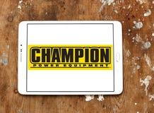 Logotipo da empresa do equipamento elétrico do campeão Foto de Stock Royalty Free