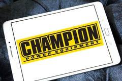 Logotipo da empresa do equipamento elétrico do campeão Imagens de Stock
